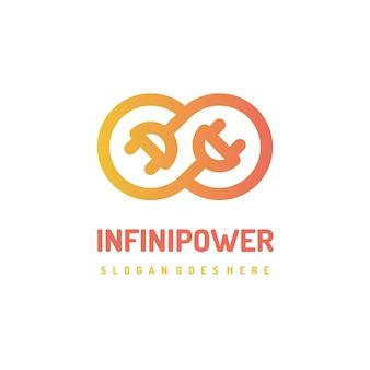 Logotipo infinity elétrico e de potência