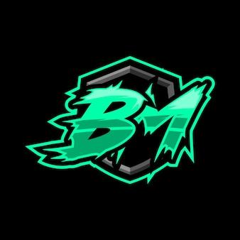 Logotipo inicial da bm gaming