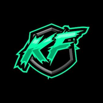 Logotipo inicial da kf gaming