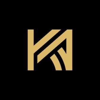 Logotipo inicial da letra ka, projeto da ilustração do vetor