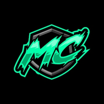 Logotipo inicial da mc gaming