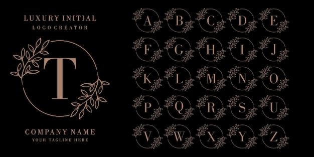 Logotipo inicial do emblema de luxo