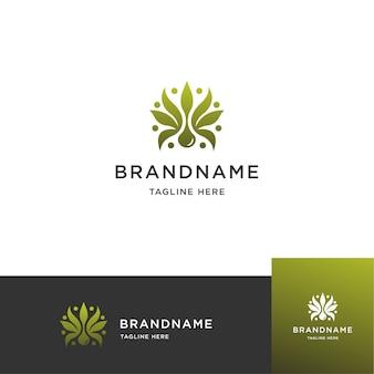 Logotipo inspirador cbd, marijuana, cannabis