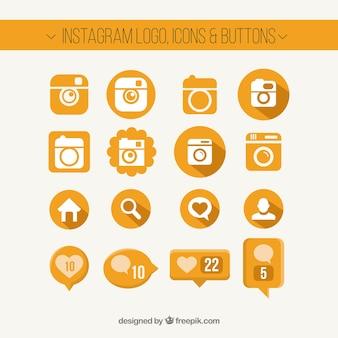 Logotipo instagram, ícones e botões