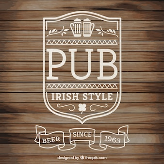 Logotipo irish pub