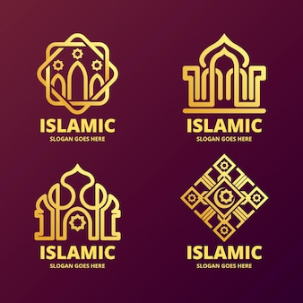 Logotipo islâmico com mesquita