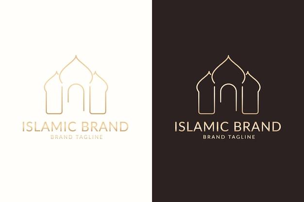 Logotipo islâmico em duas cores
