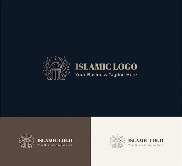 Logotipo islâmico geométrico
