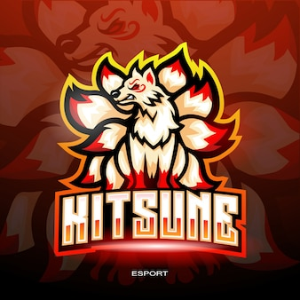 Logotipo kitsune esport para logotipo de jogos eletrônicos esportivos.