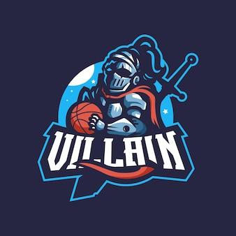Logotipo knight mascot