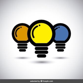 Logotipo lâmpadas simples