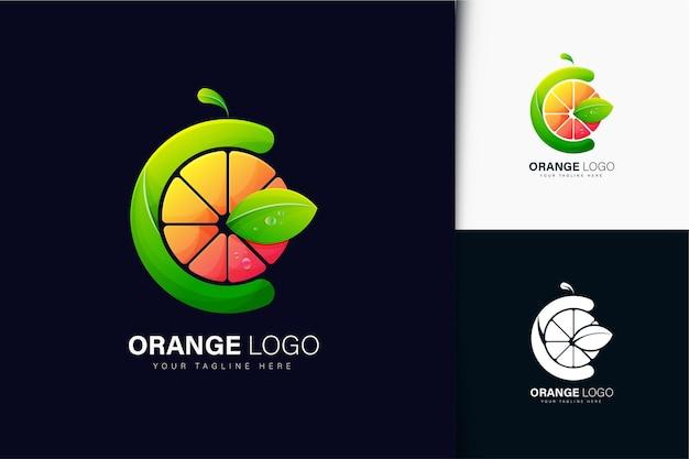 Logotipo laranja com gradiente