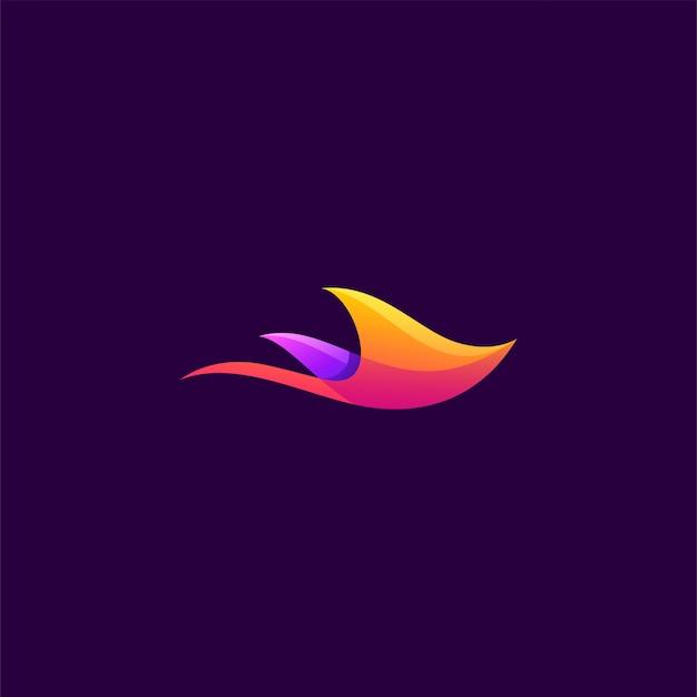 Logotipo laranja e roxo da arraia