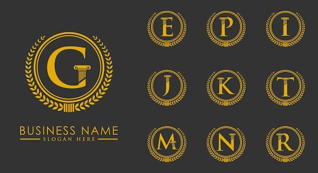 Logotipo legal de luxo