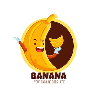 Logotipo legal do personagem banana