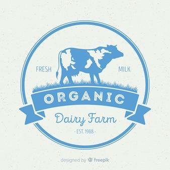 Logotipo leite orgânico