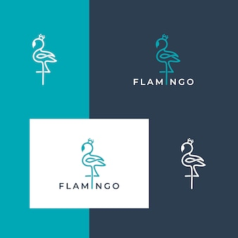 Logotipo lindo flamingo