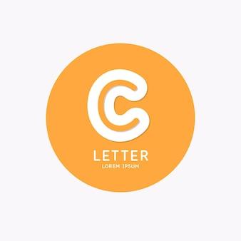 Logotipo linear moderno e assinar a letra c