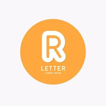 Logotipo linear moderno e assinar a letra r