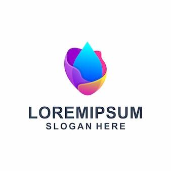 Logotipo líquido abstrato colorido