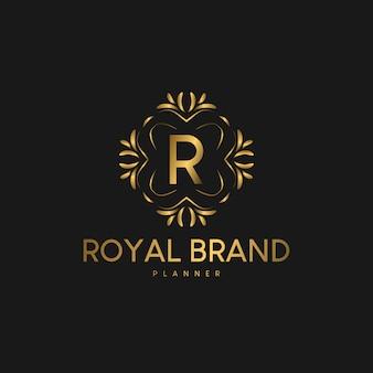 Logotipo luxuoso com ornamento premium