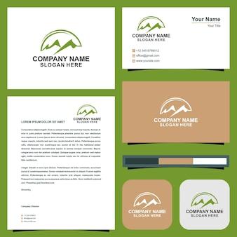 Logotipo maountain e cartão de visita