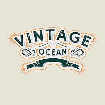 Logotipo marinho vintage