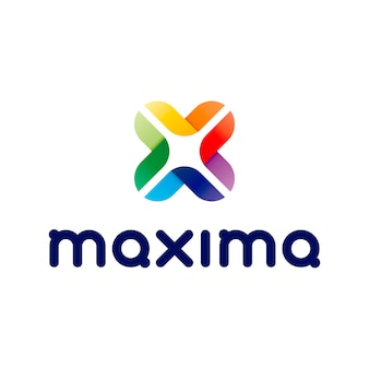 Logotipo maxima abstract letter x