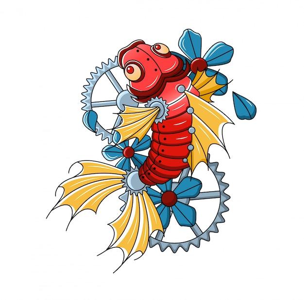 Logotipo mecânico da carpa