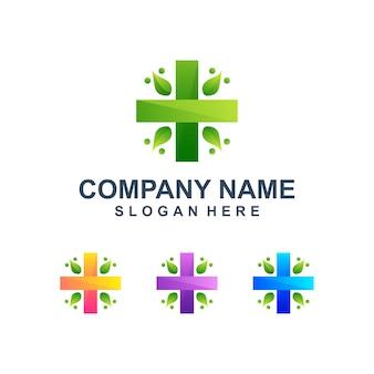 Logotipo médico abstrato colorido