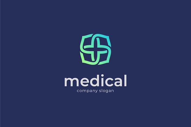 Logotipo médico elegante.