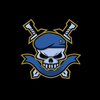 Logotipo militar do crânio
