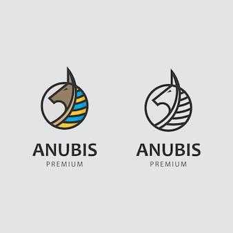 Logotipo minimalista com deus anubis