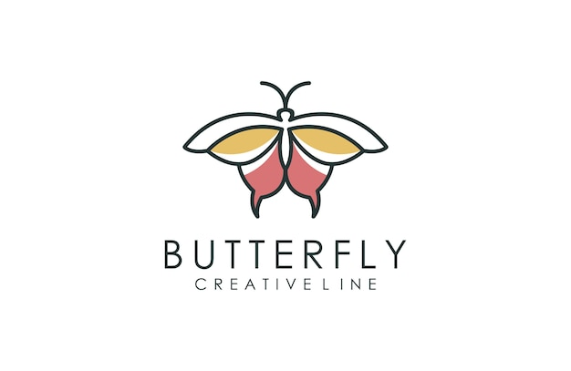 Logotipo minimalista da borboleta