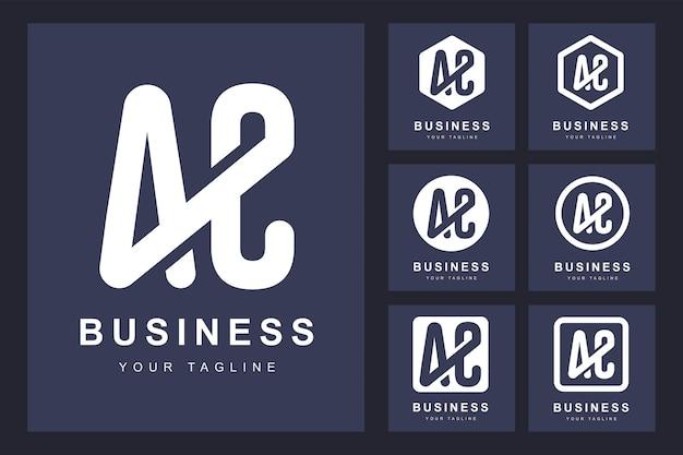 Logotipo minimalista da letra ac com várias versões