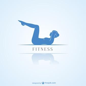 Logotipo minimalista de fitness