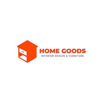 Logotipo minimalista de móveis