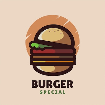 Logotipo minimalista do burger