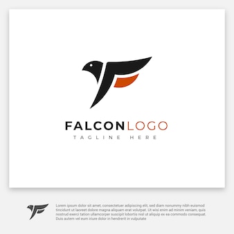 Logotipo minimalista do falcão