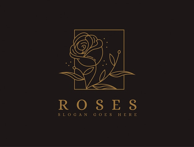 Logotipo minimalista rosa de luxo