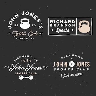 Logotipo mínimo de clube de ginástica vintage para o clube de esporte