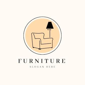 Logotipo mínimo de móveis