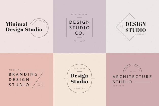 Logotipo mínimo definido com cores pastel