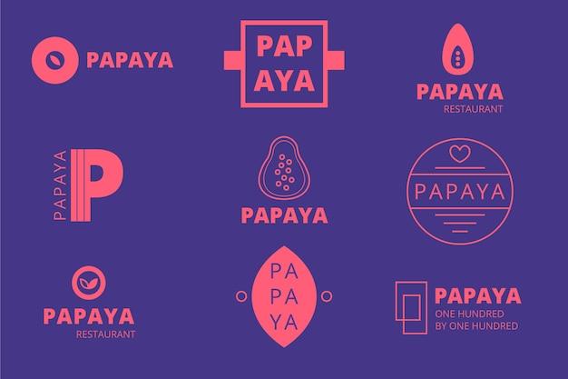 Logotipo mínimo definido em duas cores