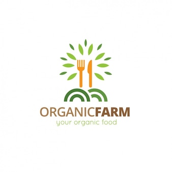 Logotipo modelo de alimentos orgânicos