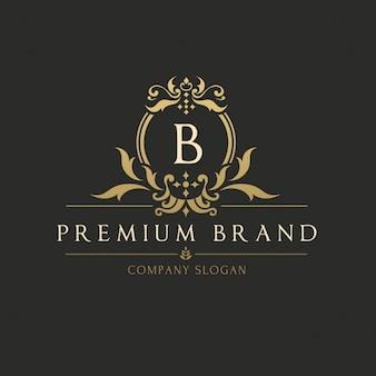 Logotipo modelo dourado elegante