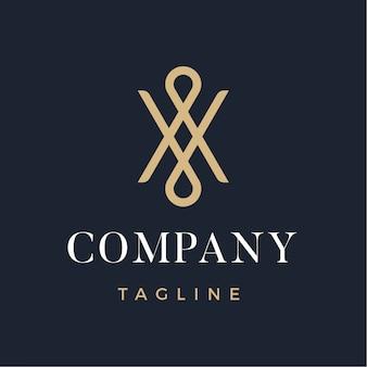 Logotipo moderno abstrato de luxo