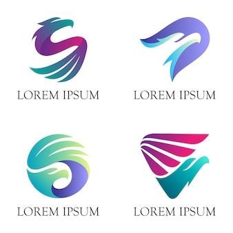 Logotipo moderno da águia animal