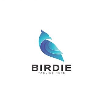 Logotipo moderno da asa do pássaro