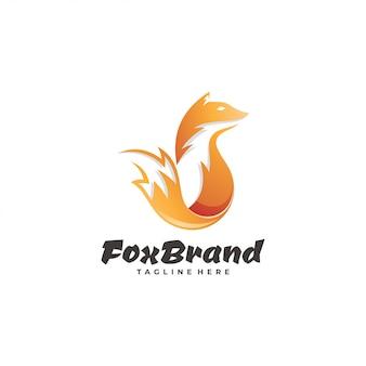 Logotipo moderno da cauda da raposa do inclinação
